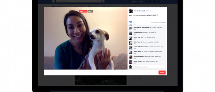 Facebook live desktop