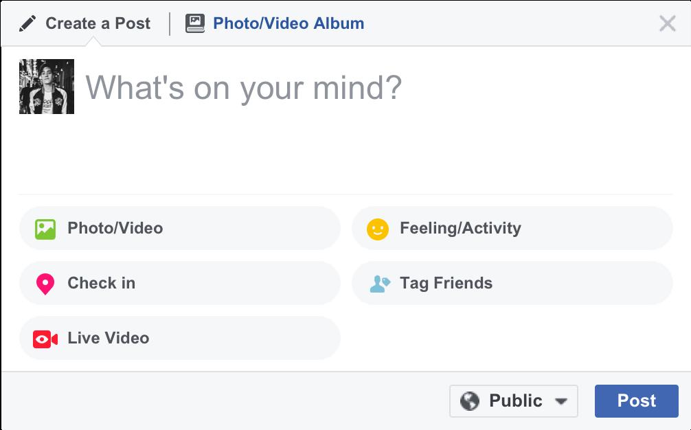 Aggiornamento per andare in diretta su Facebook