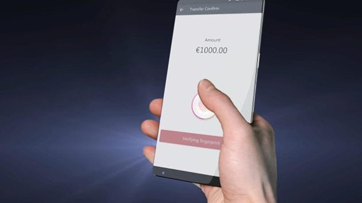 Sensore d'impronte sotto il display