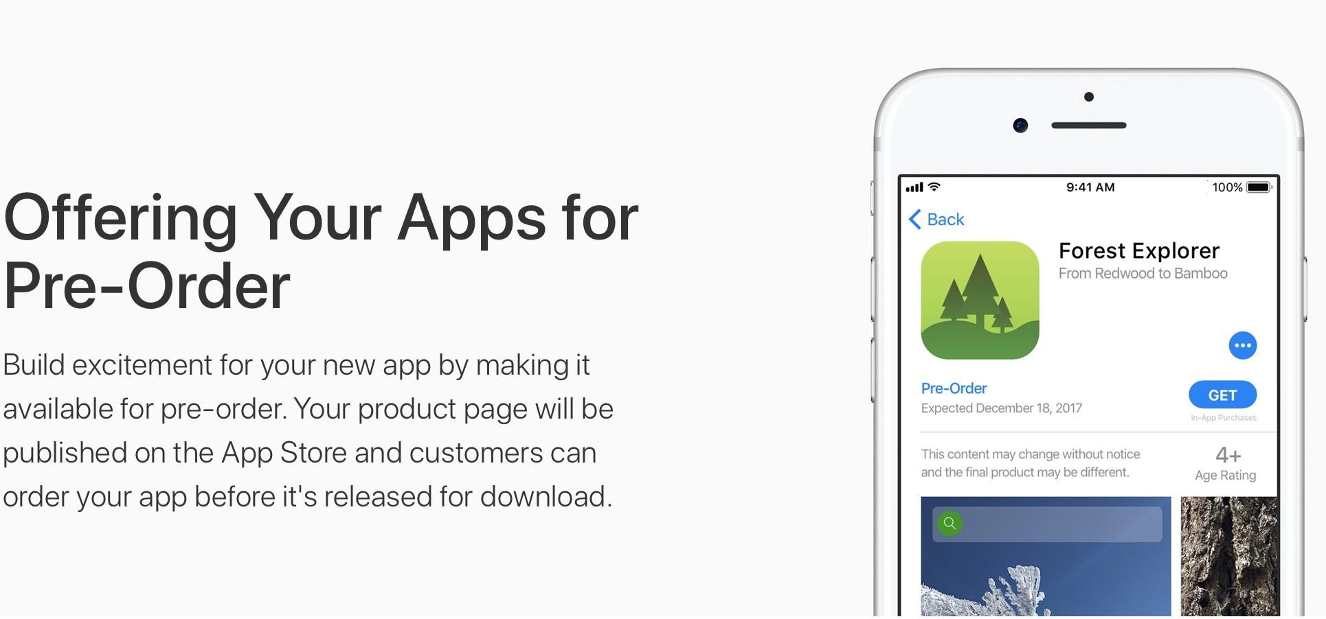 App Store preordini app