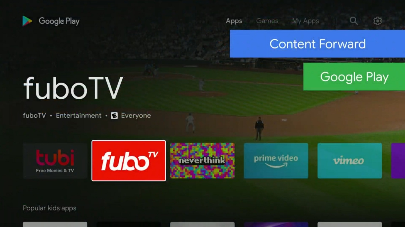 Android TV al google io 2019