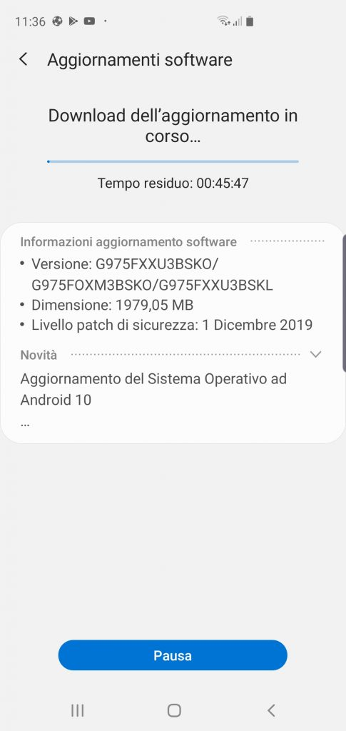 Samsung Galaxy S10 Android 10
