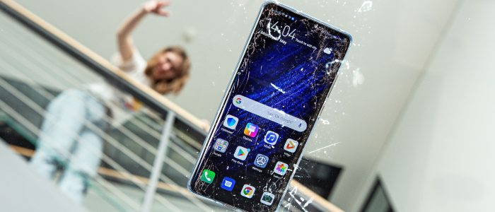 smartphone caduta