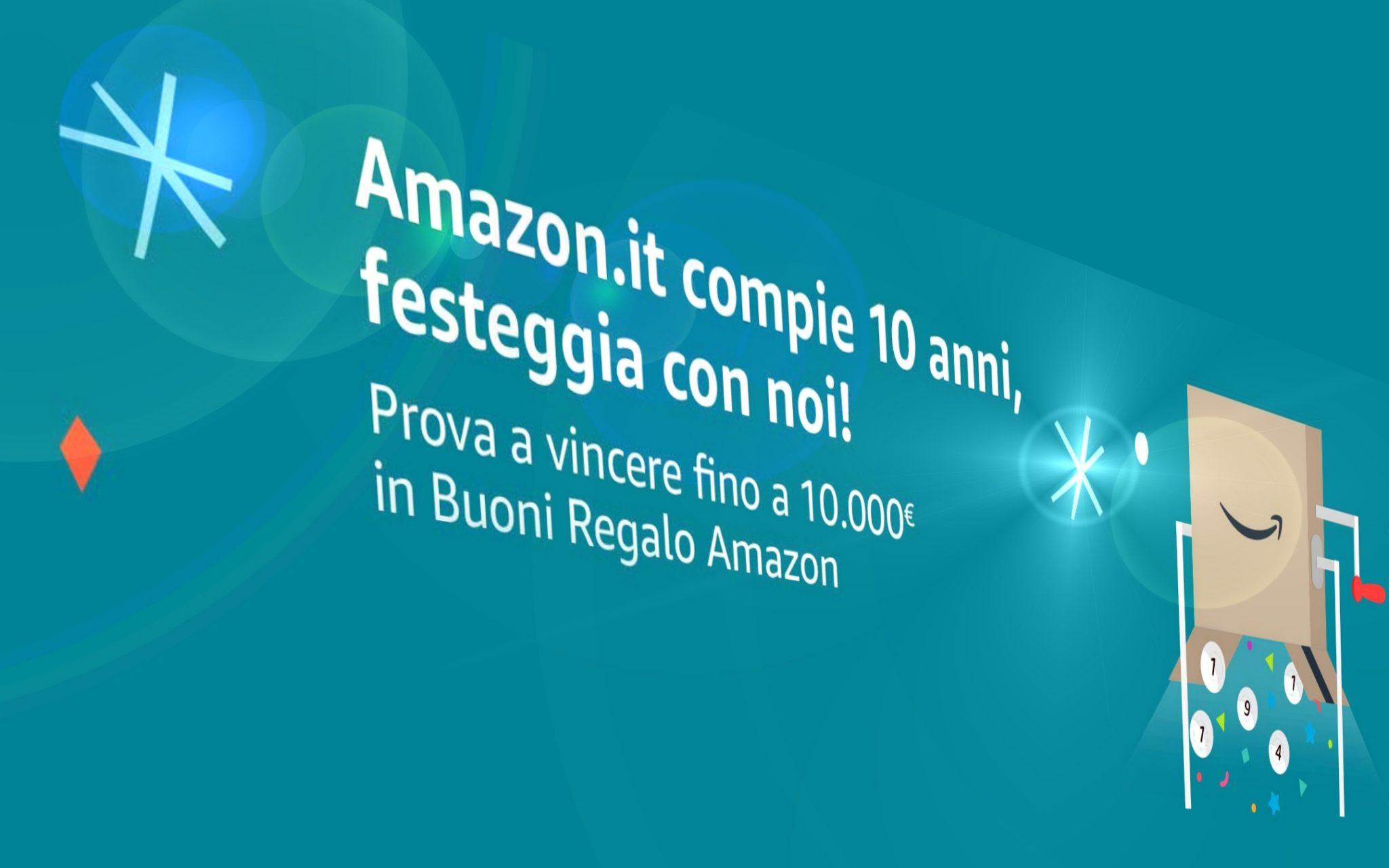 Amazon compie 10 anni e festeggia con un concorso a premi