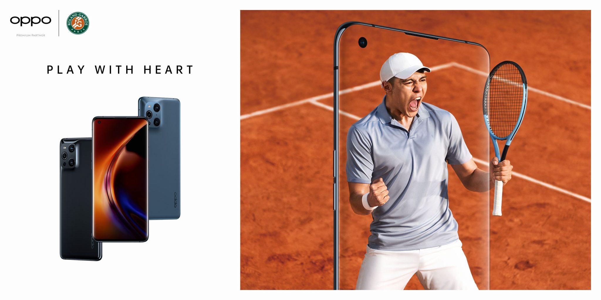 OPPO partner del torneo di tennis Roland Garros e lancia il progetto Play With Heart